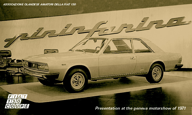 Introductie Fiat 130 Coupe, Geneve 1971