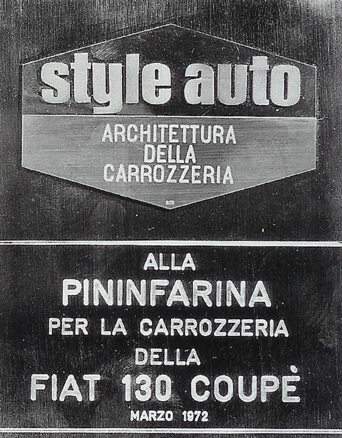 Onderscheiding Fiat 130 Coupe