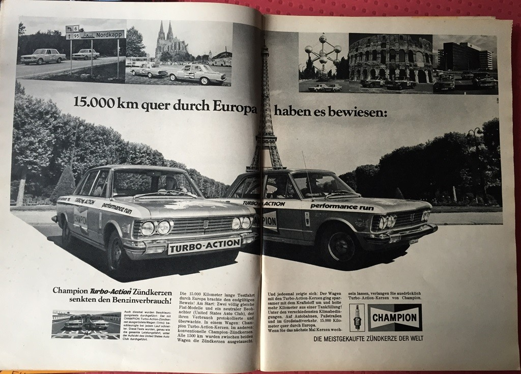 champion advert fiat 130