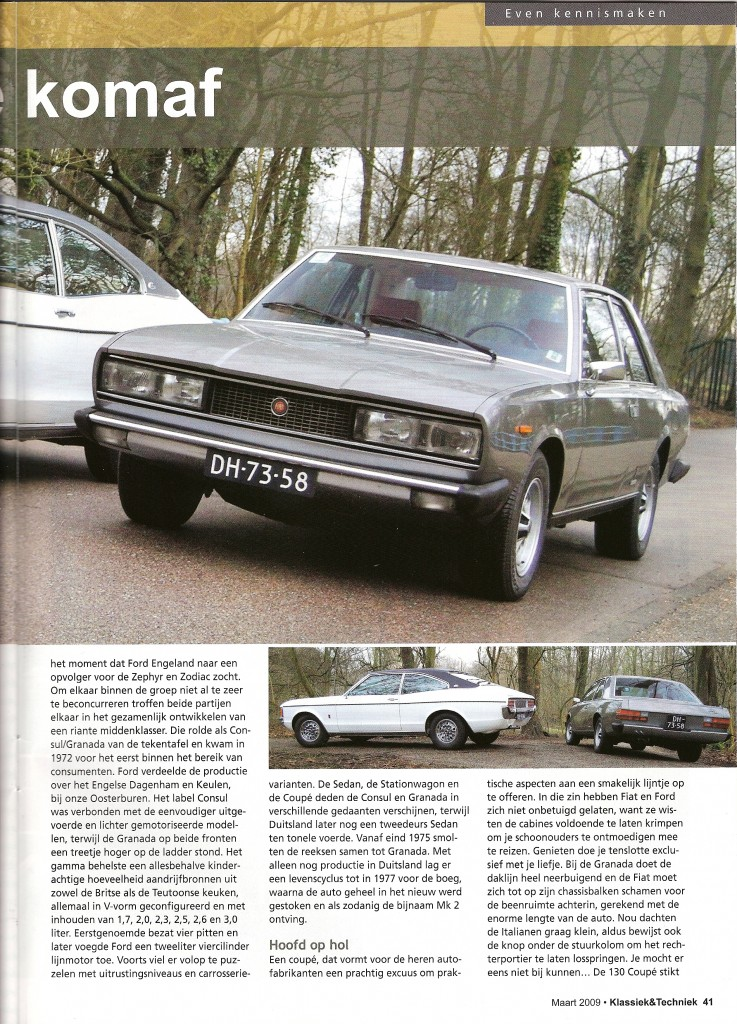 Klassiek & Techniek Fiat 130 Coupe en Ford Granada
