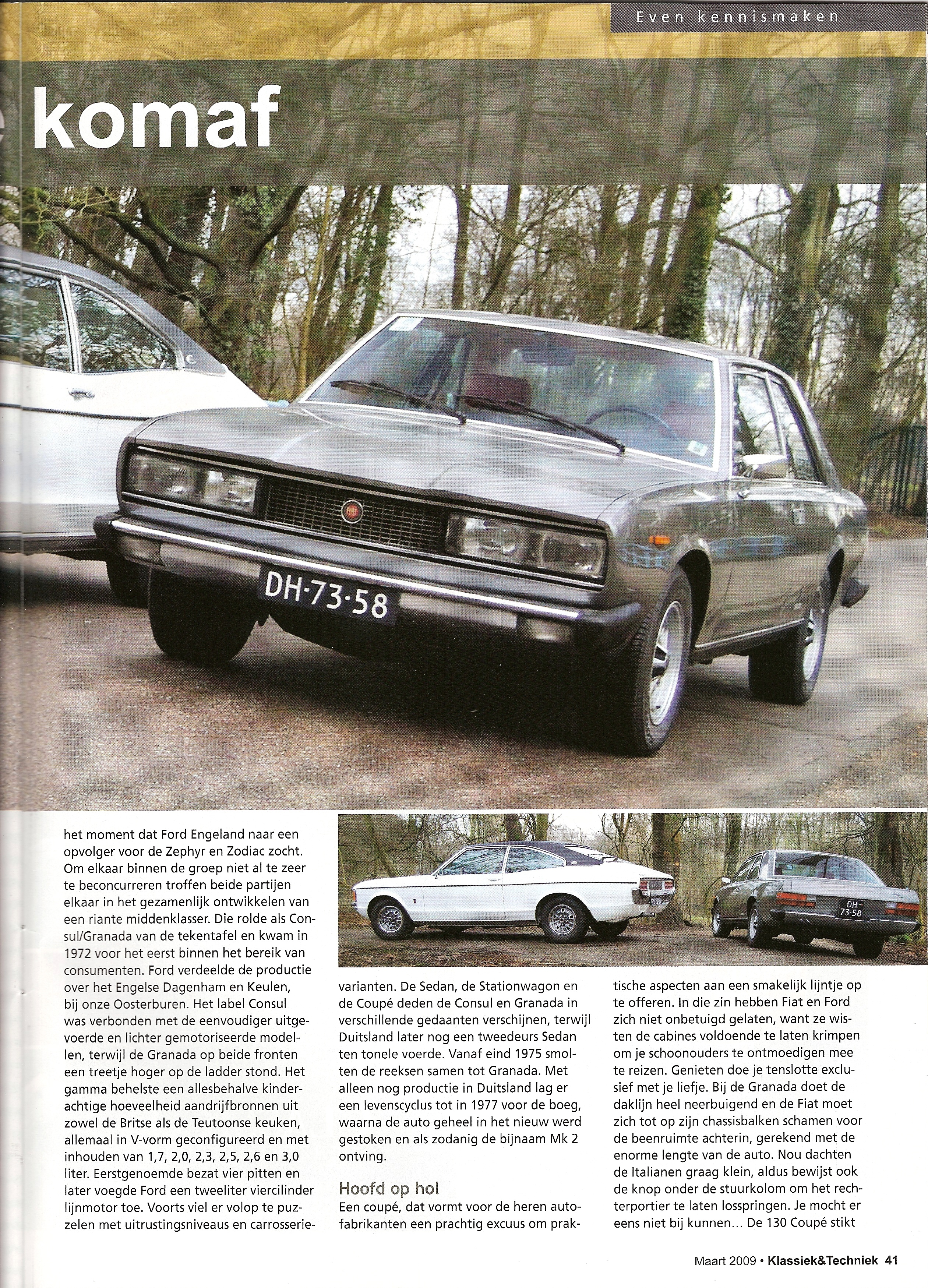 Klassiek & Techniek Fiat 130 Coupe en Ford Granada