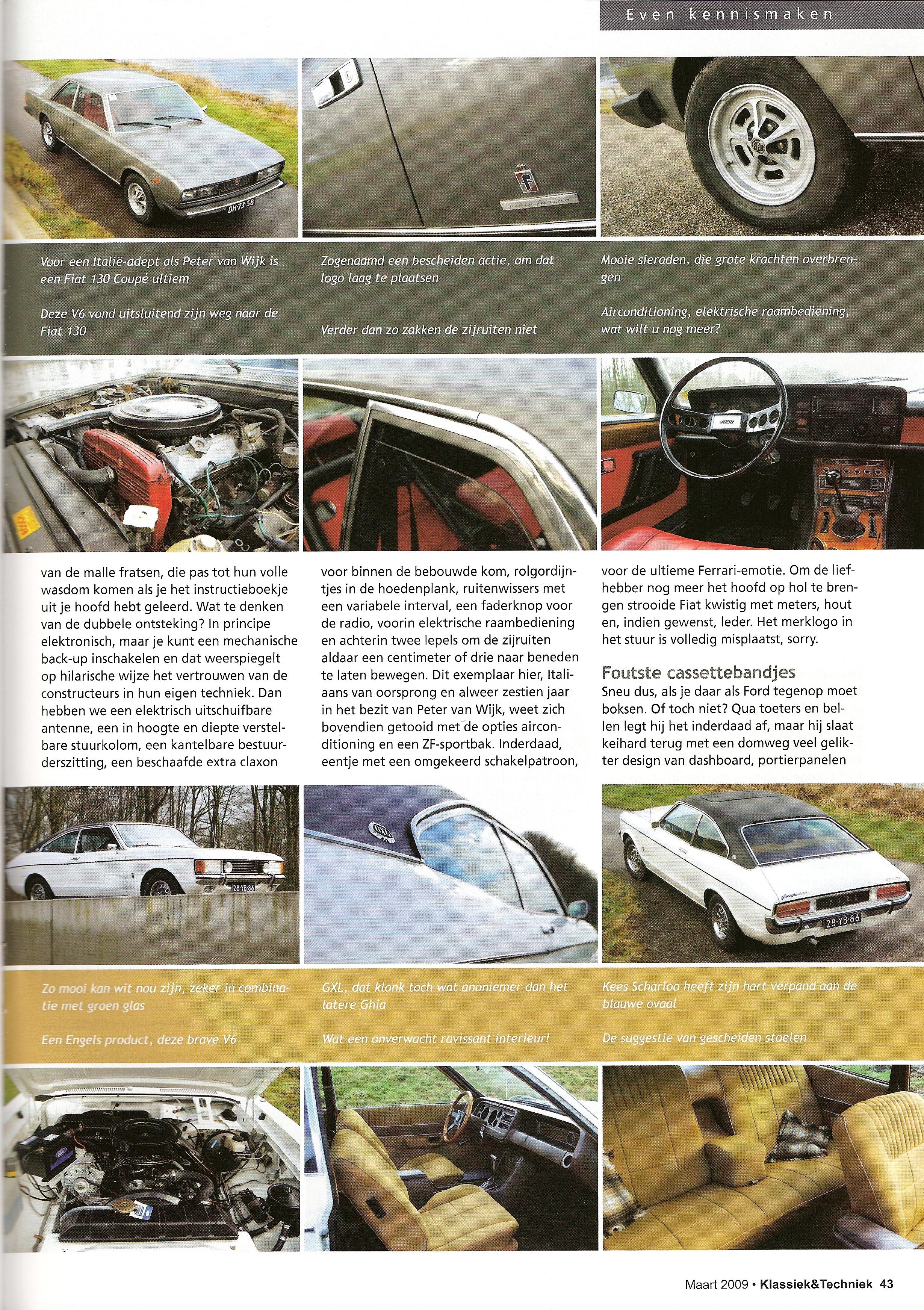Klassiek & Techniek: Fiat 130 Coupe en Ford Granada