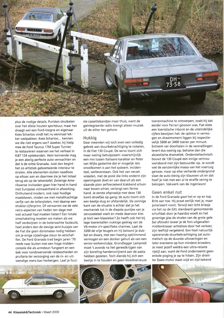 Klassiek & Techniek: Fiat 130 Coupe en Ford Granada