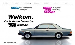 Oude Fiat 130 website