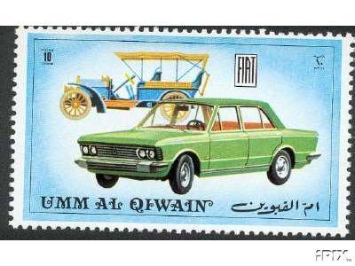 Postzegel met Fiat 130
