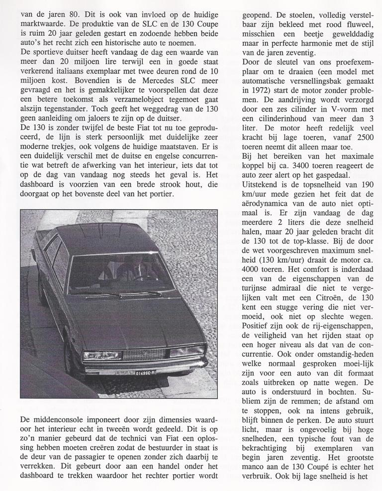 vertaling RuoteClassiche 1993 met Fiat 130