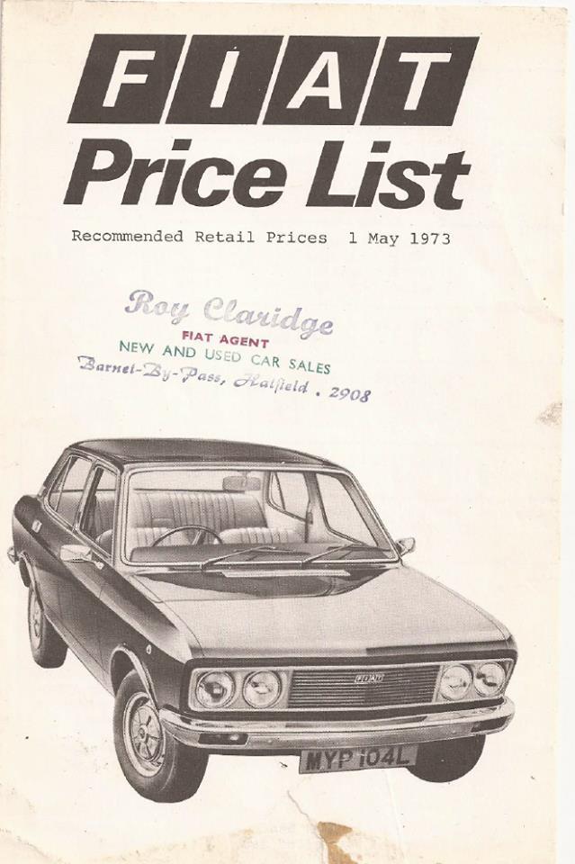 pricelist Fiat 130