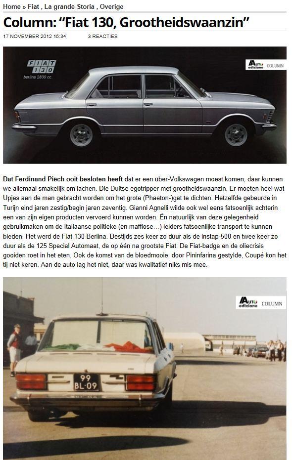 autoedizione.nl over Fiat 130