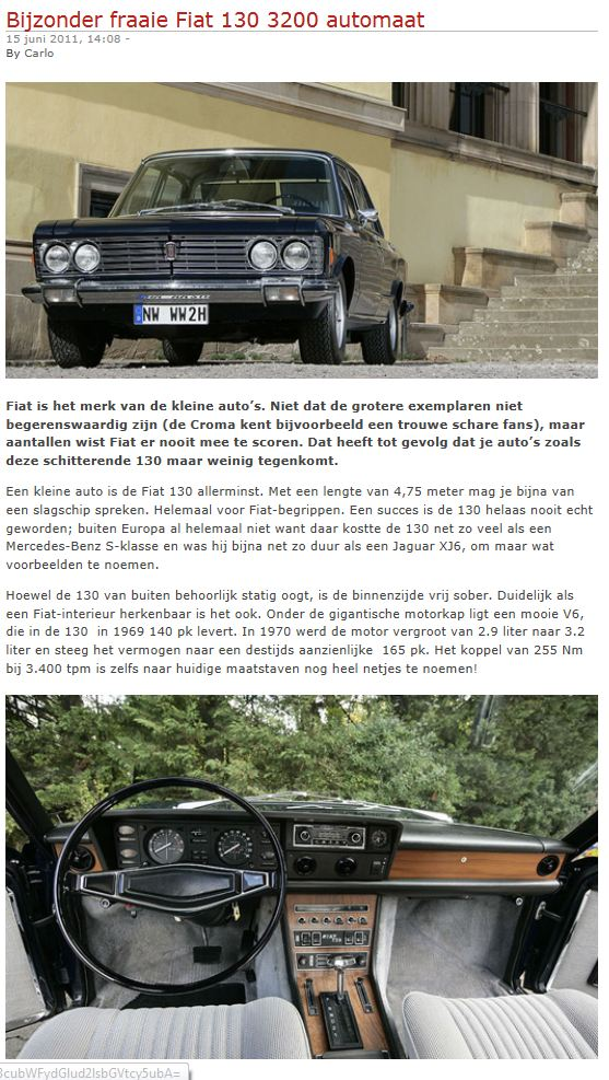 fiatblog.nl over Fiat 130