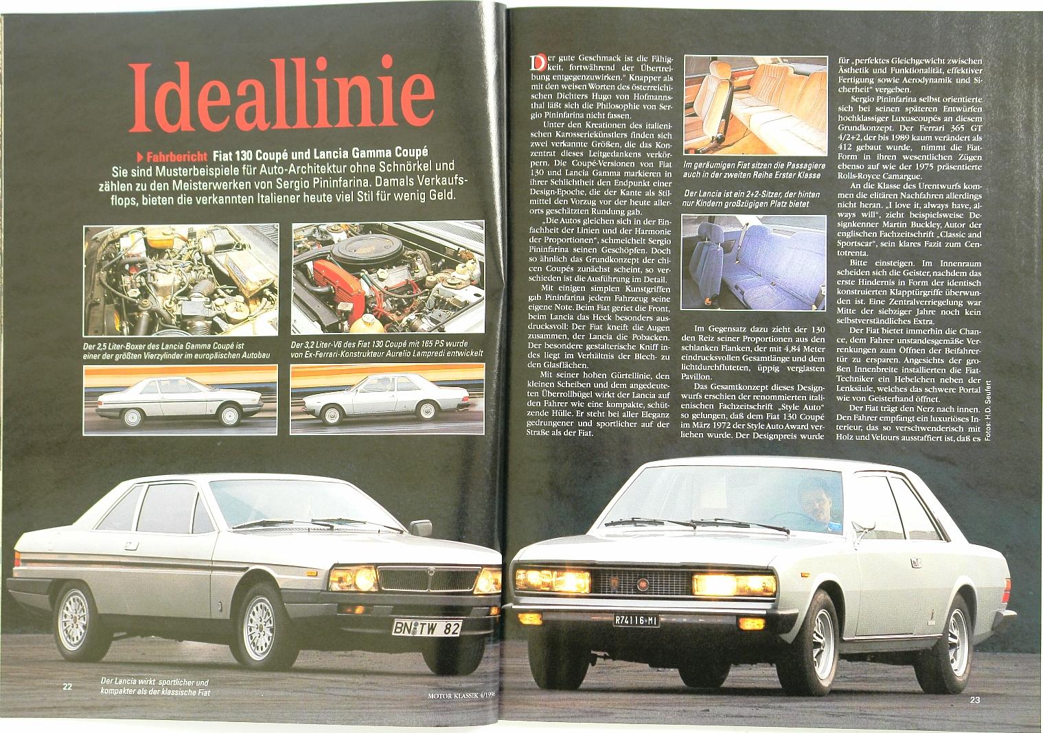 Motor Klassik (1996) Fiat 130 Coupe