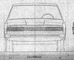 Fiat 130 schets