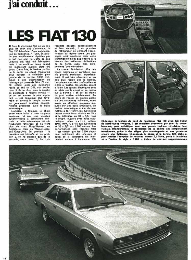 Auto Journal 1971 Fiat 130