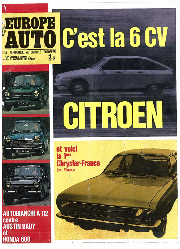 EUROPE-AUTO-1970
