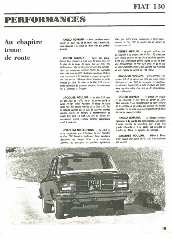 Europe Auto 1970 Fiat 130