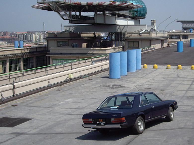 Lingotto photoshoot with Fiat 130
