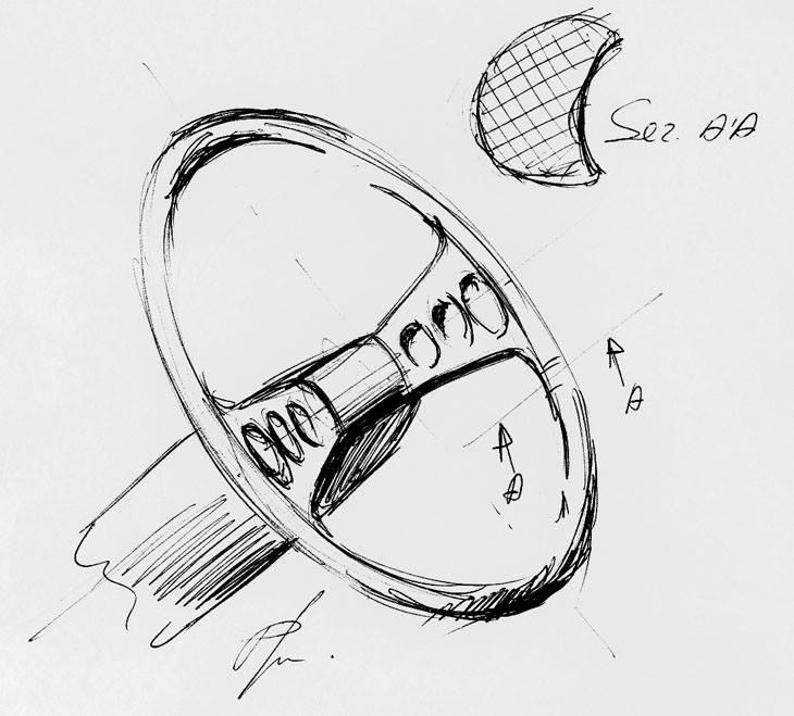tekening Fiat 130 coupe