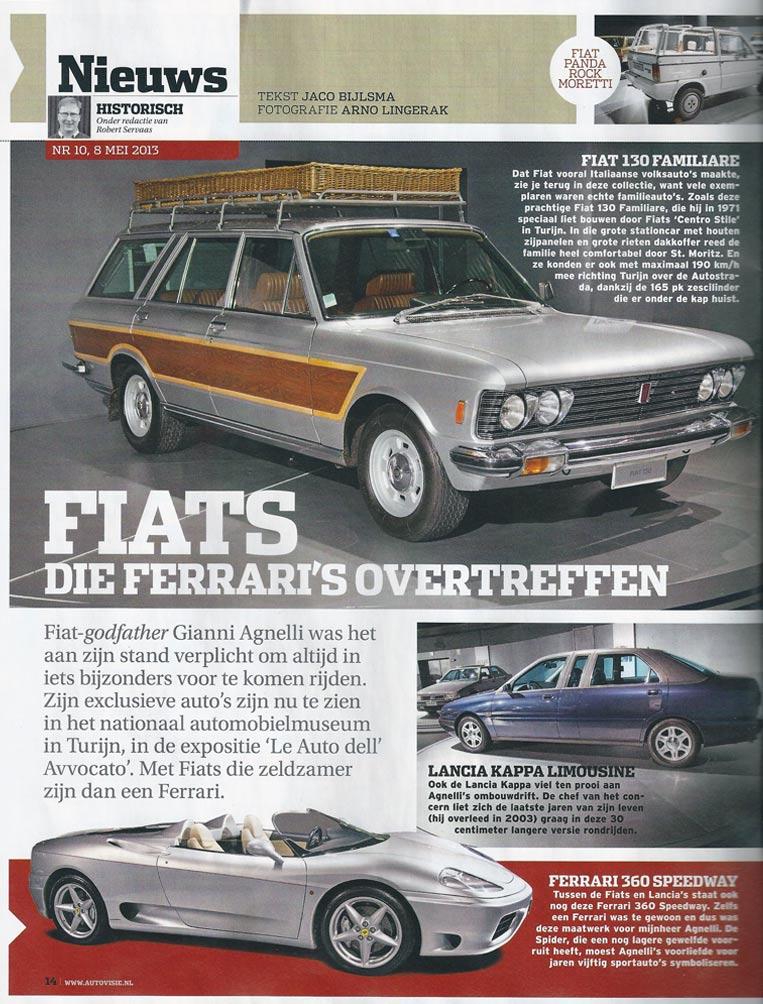 Autovisie over Fiat 130