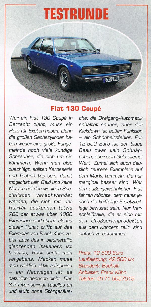 ClassicCars 10-2013 Fiat 130