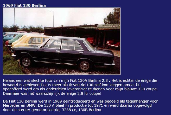 Classic Passion Fiat 130