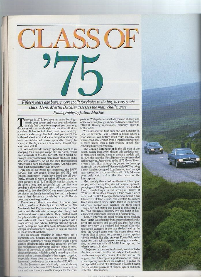 Classic and Sportscar 1990