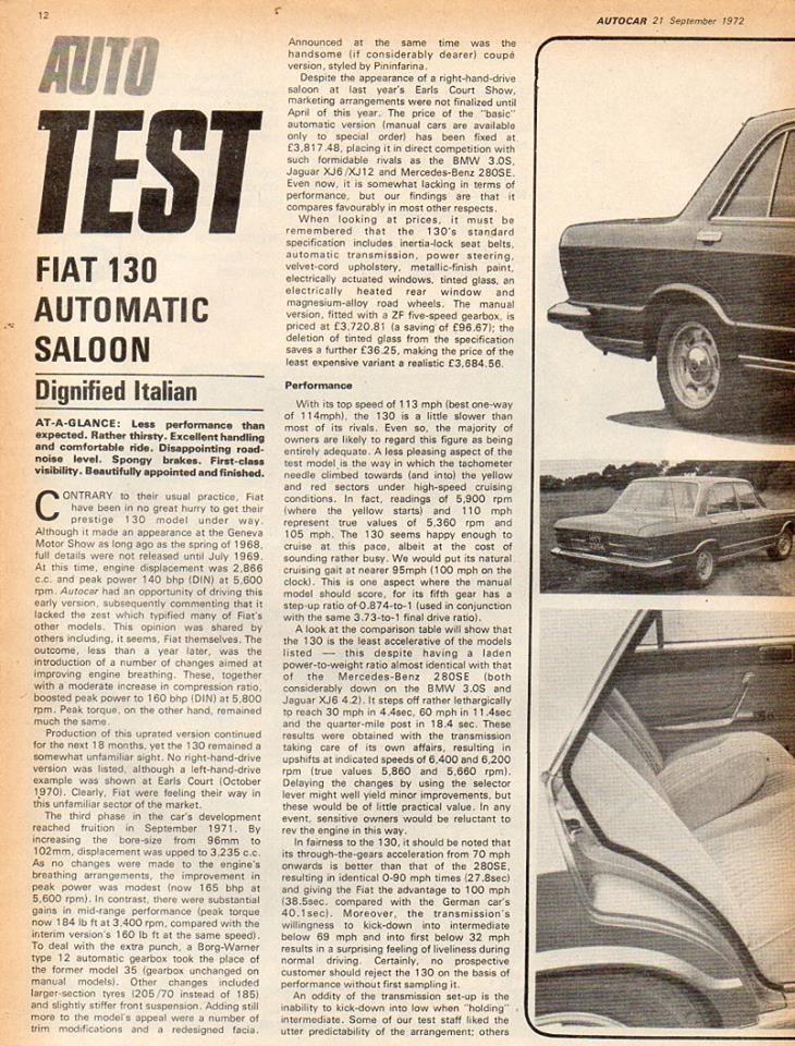 AutoCar with Fiat 130