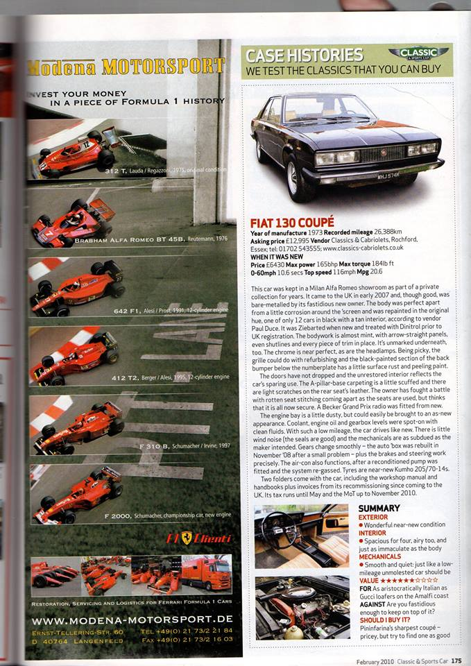 Fiat 130 article