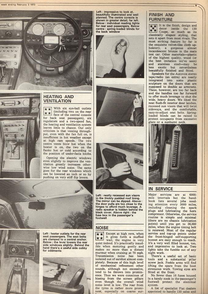 Fiat 130 in Motor (1973)