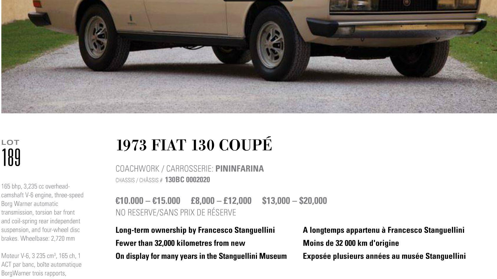 RM Auctions Fiat 130