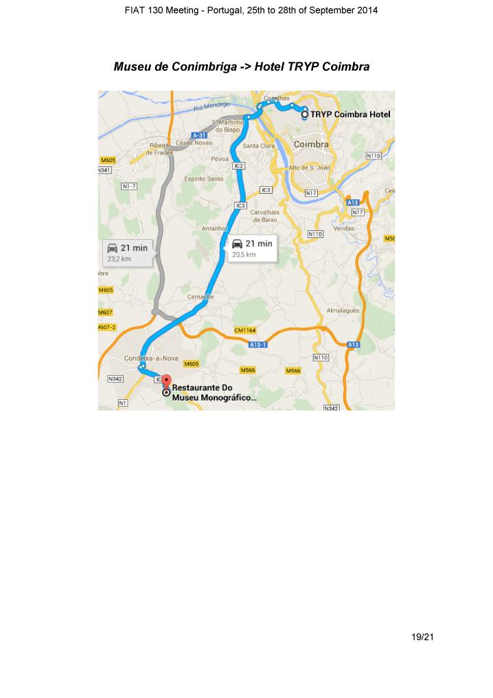 Tourbook Fiat 130 meeting 2014