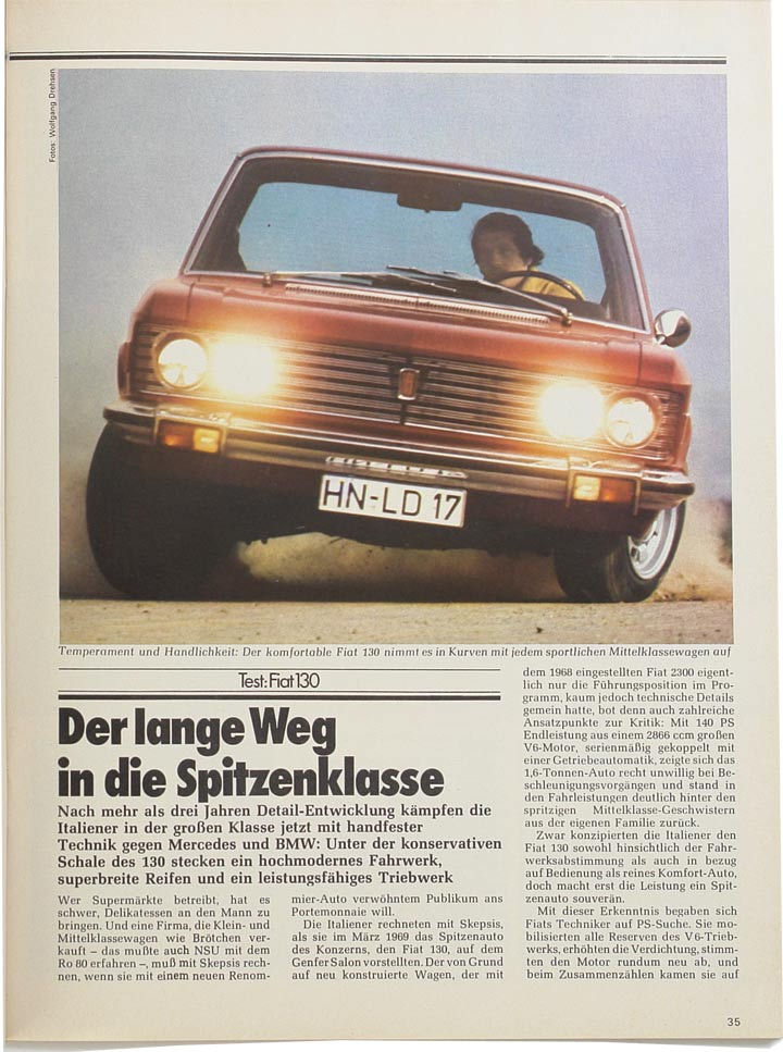 Fiat 130 Auto Zeitung
