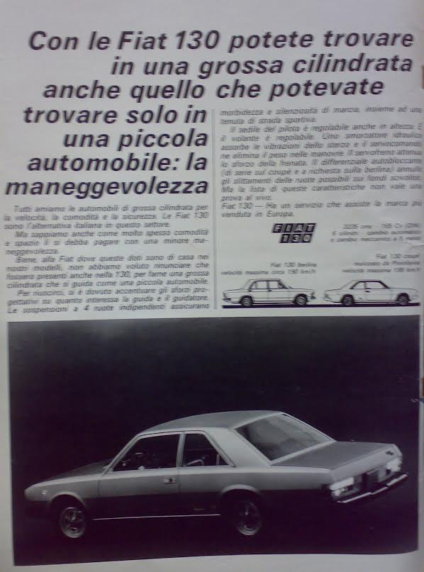 Fiat 130 coupe advert