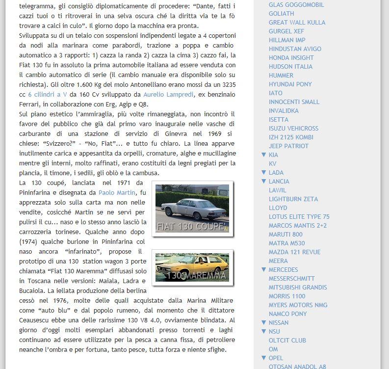 Fiat 130 blog