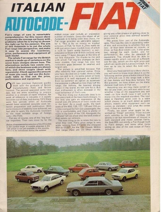 Fiat 130 Italian autocode