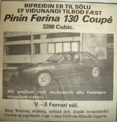 advert Fiat 130