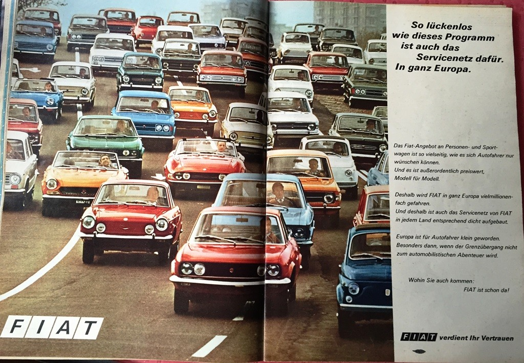 Advert 1971 Fiat angebot
