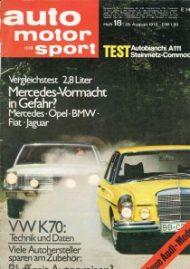 Vergleichstest Fiat 130