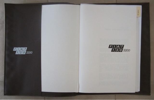 Australian Fiat 130 manual