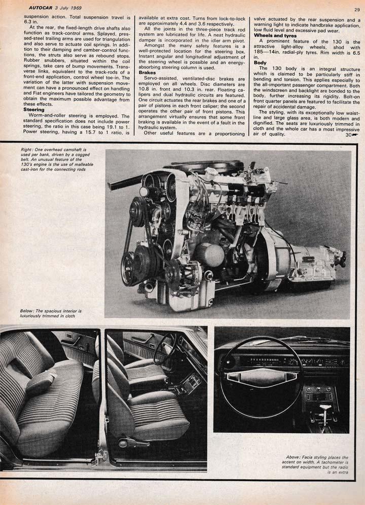 Autocar 1969 Fiat 130