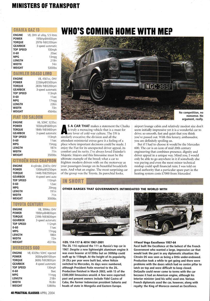 Practical-Classics 2004 Fiat 130