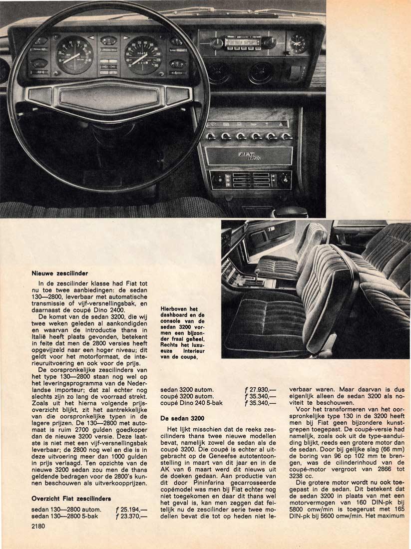 Nieuws over FIAT 130