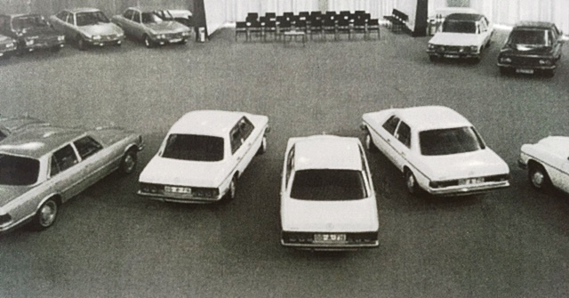 Fiat 130 in Mercedes-design-clinic