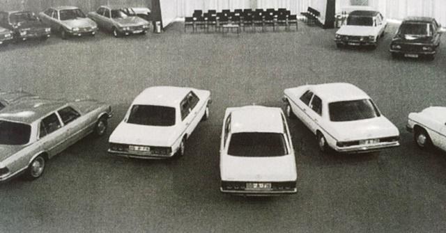 Fiat 130 in Mercedes-design-clinic