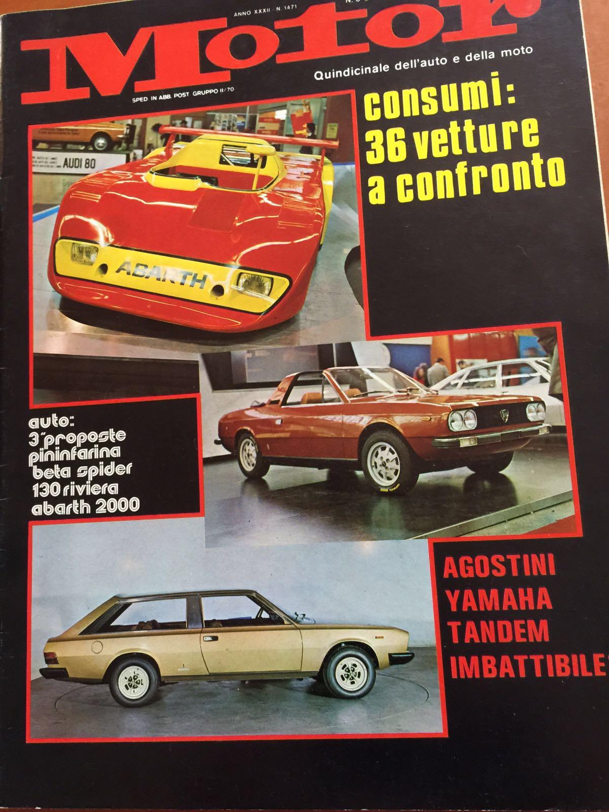 Motor Fiat 130 Maremma