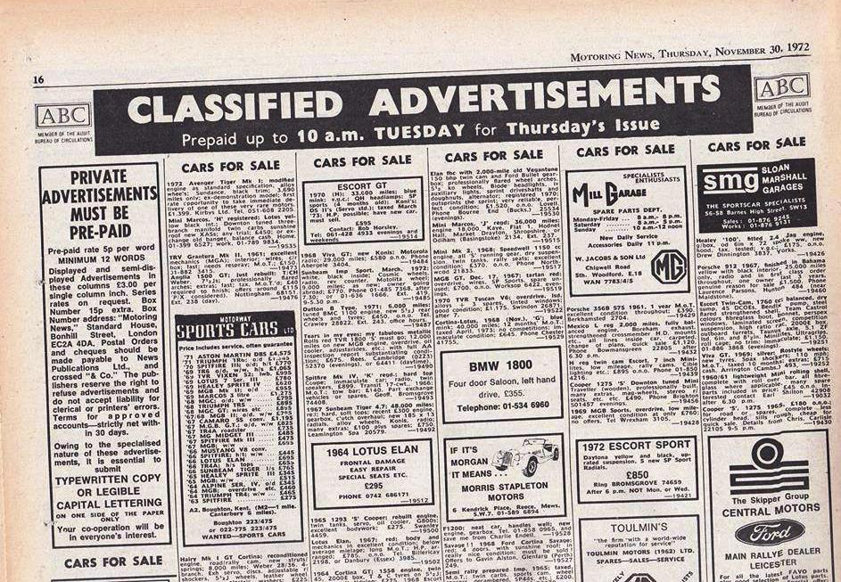 Motoring News 1972