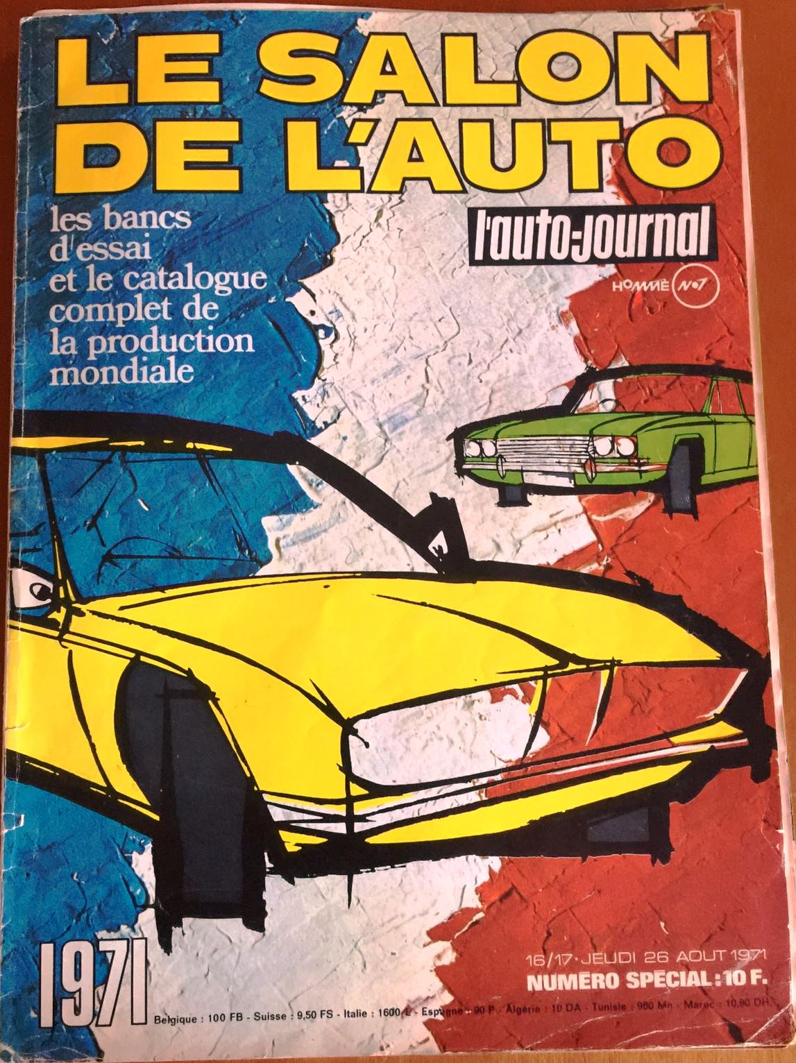 le salon de l auto essai de l auto journal 1971 de nederlandse fiat 130 website. Black Bedroom Furniture Sets. Home Design Ideas