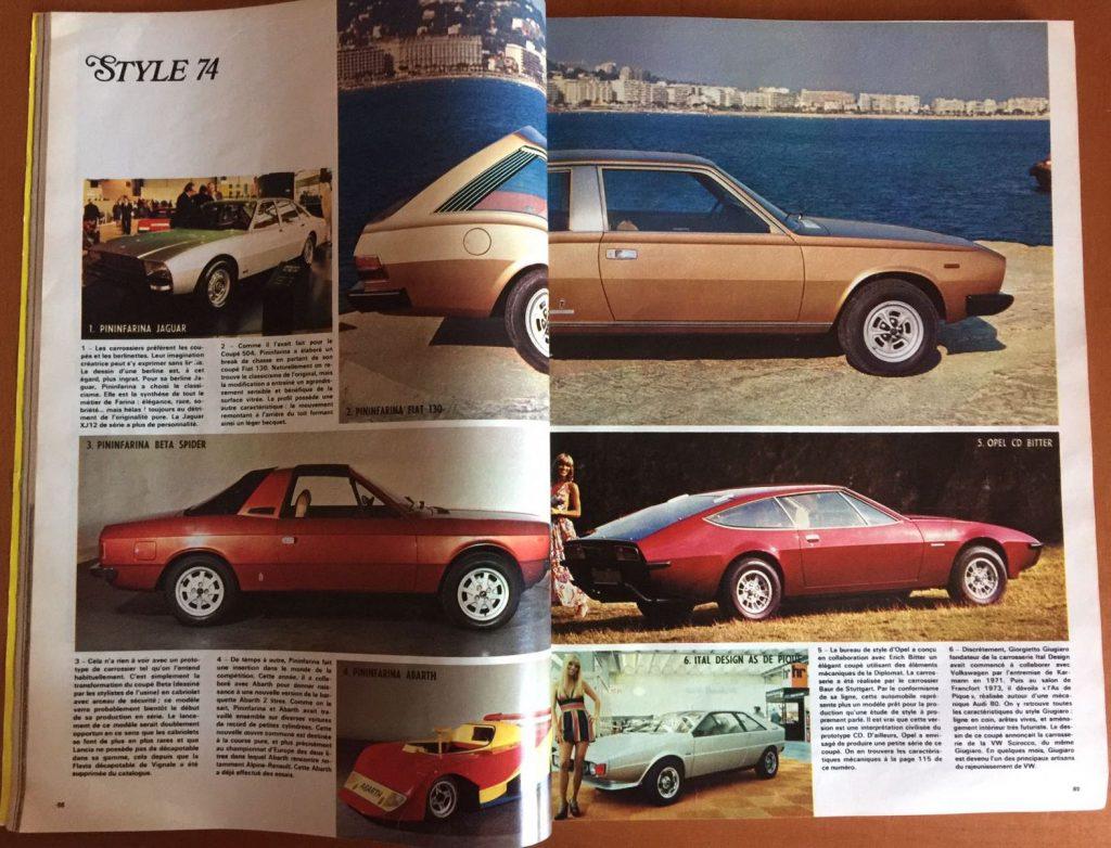 le salon de l auto essai de l auto journal 1974 de. Black Bedroom Furniture Sets. Home Design Ideas
