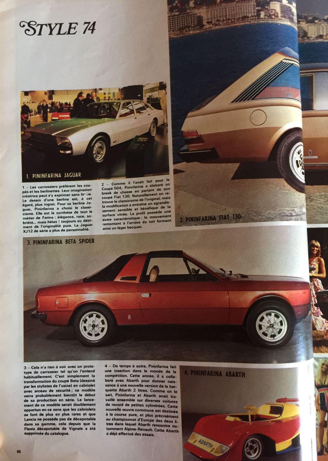le salon de l auto essai de l auto journal 1974 de nederlandse fiat 130 website. Black Bedroom Furniture Sets. Home Design Ideas