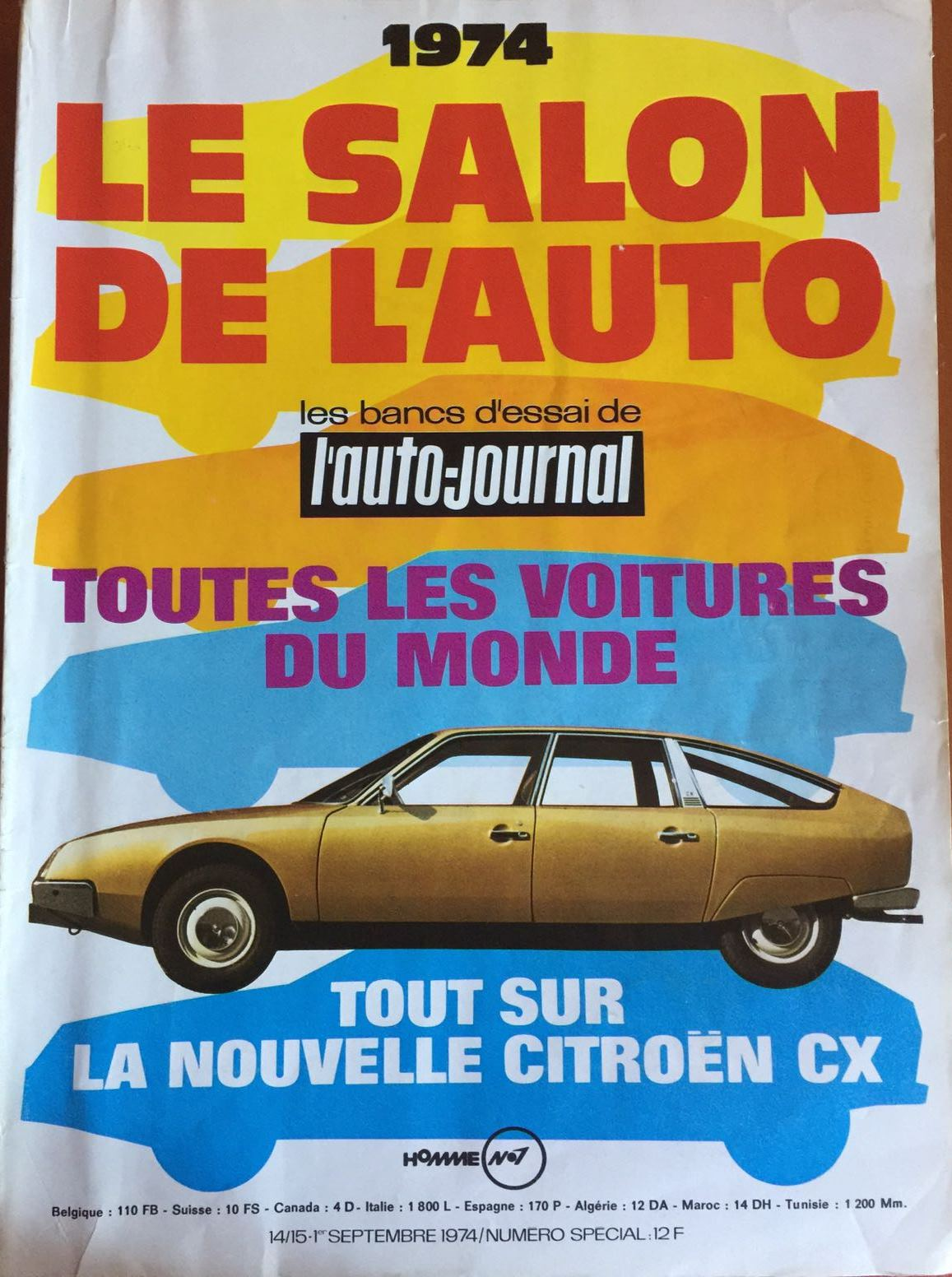 le salon de l auto essai de l auto journal 1974 de nederlandse fiat 130 website. Black Bedroom Furniture Sets. Home Design Ideas