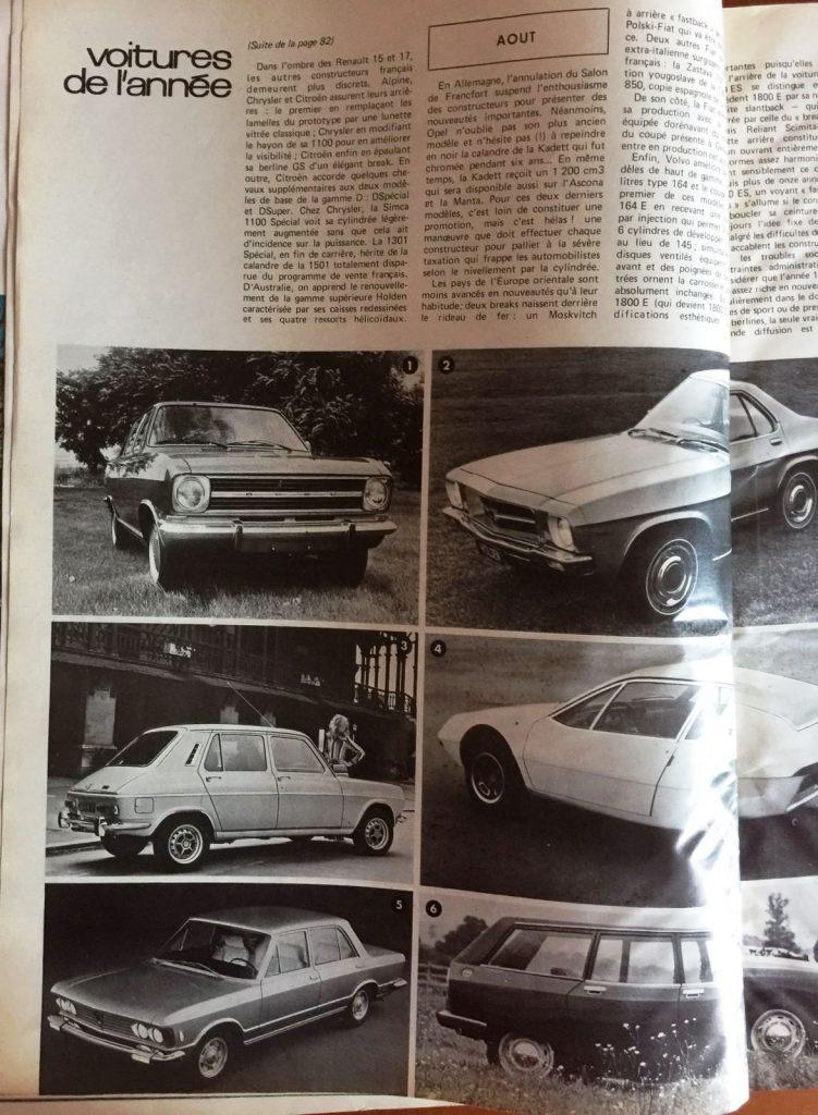 Moteurs 1971 Fiat 130