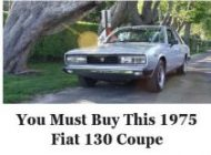 Fiat 130 coupe Chicago